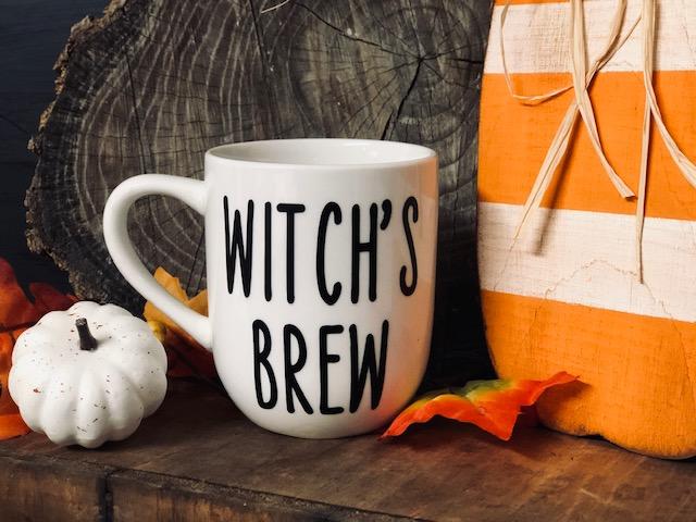 Halloween themed coffee mug. Witch's brew coffee mug