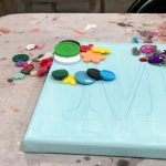 How to make DIY canvas letter art for kids at home. An easy guide to fun art at home with your kiddos.